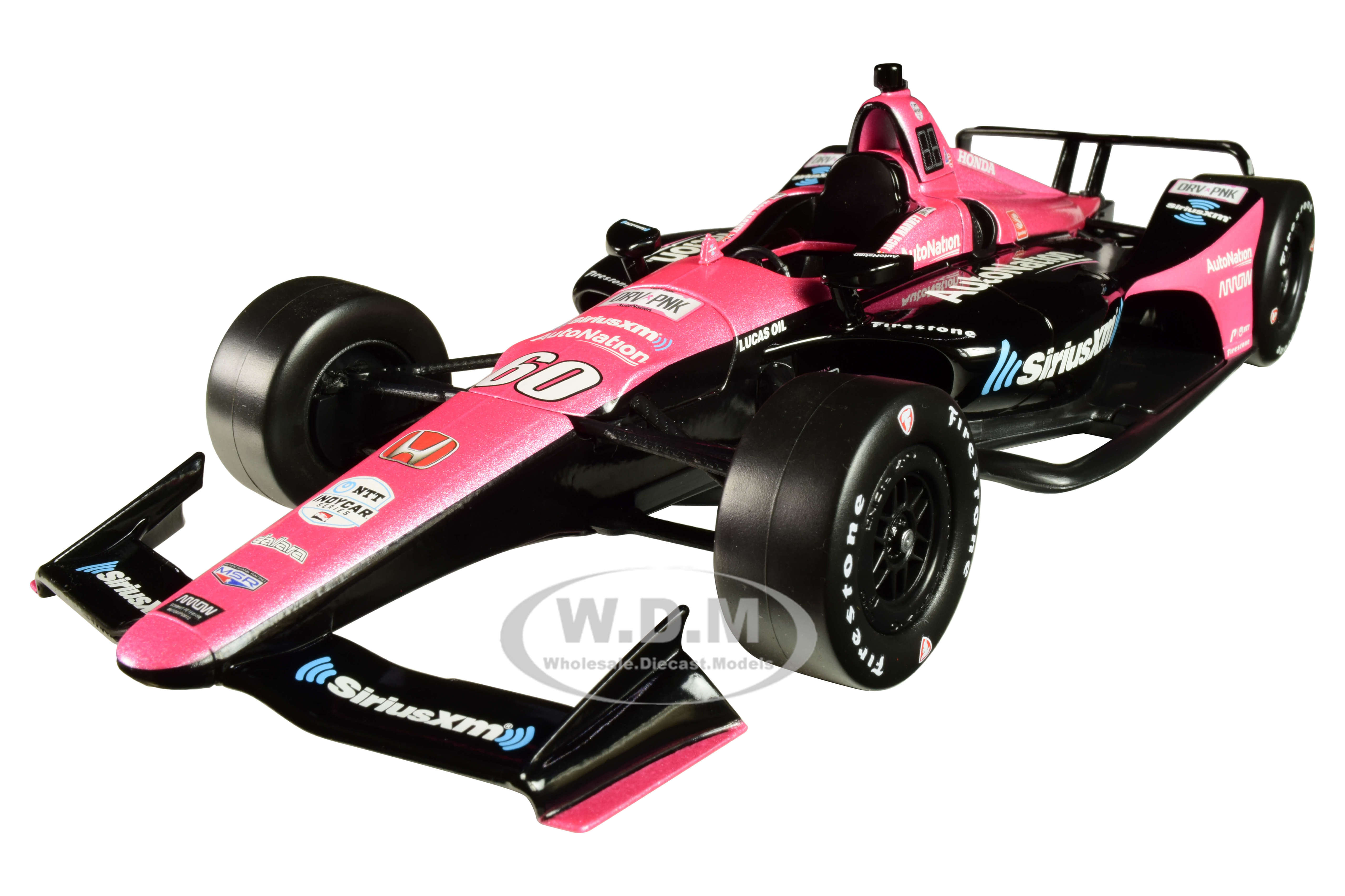 Honda Dallara Indy Car #60 Jack Harvey SiriusXM AutoNation Meyer Shank Racing with Arrow Schmidt Peterson Motorsports 1/18 Diecast Model Car by Greenlight - from $59.99