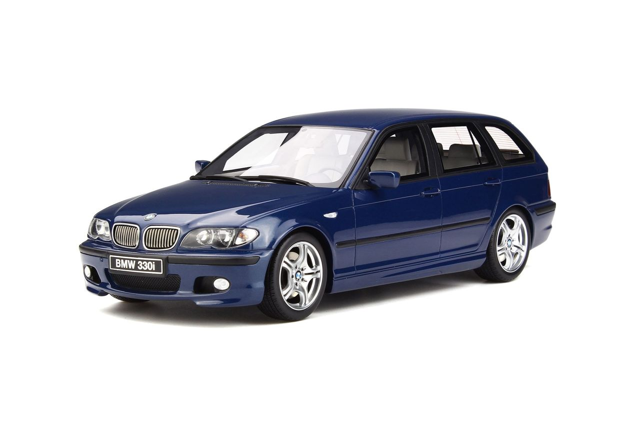 BMW 330i (E46) Touring M Pack Mystic Blue Limited Edition to 2000 pieces Worldwide 1/18 Model Car by Otto Mobile