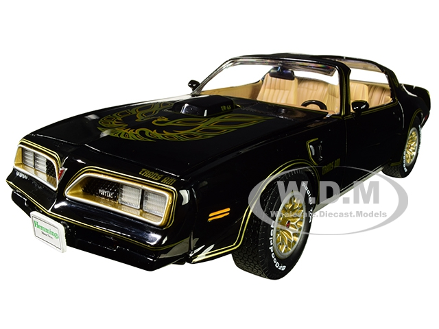 1977 Pontiac Firebird Trans Am Special Edition Black Hemmings Muscle Machines Cover Car (October 2007) Limited Edition to 1002 pieces Worldwide 1/18 Diecast Model Car by Autoworld